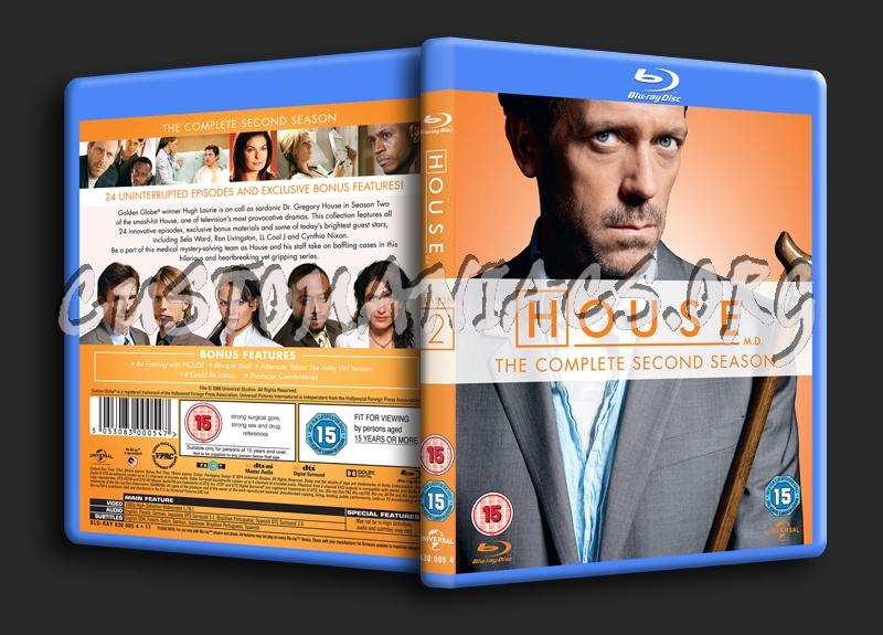 House MD Season 2 blu-ray cover