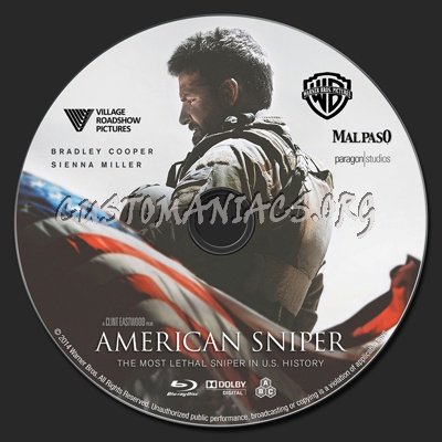 American Sniper blu-ray label