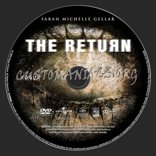 The Return dvd label
