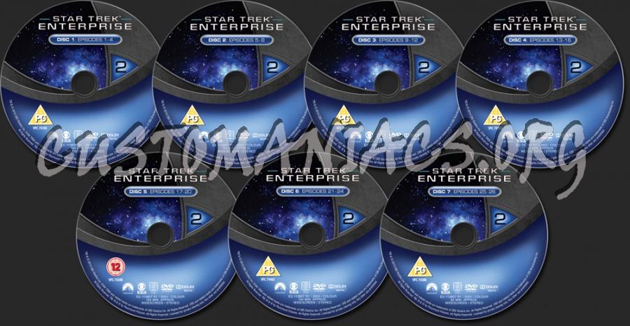 Star Trek Enterprise Season 2 dvd label