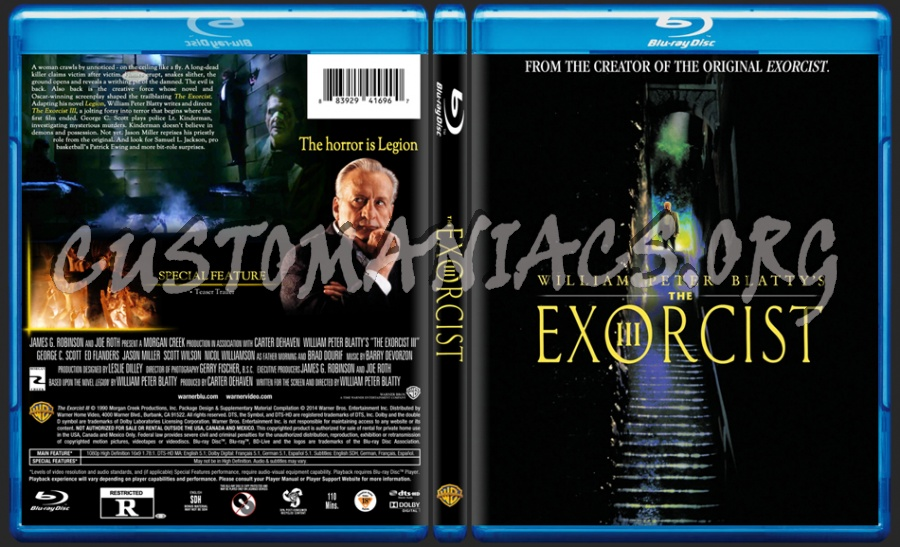 The Exorcist III dvd cover