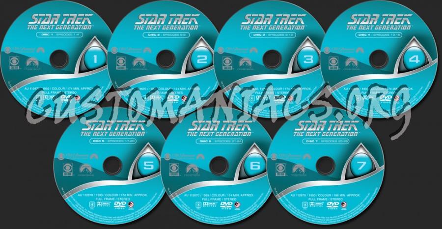 Star Trek The Next Generation Season 6 dvd label