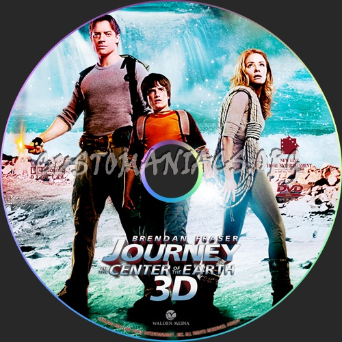 Journey to the Center of the Earth 3D dvd label