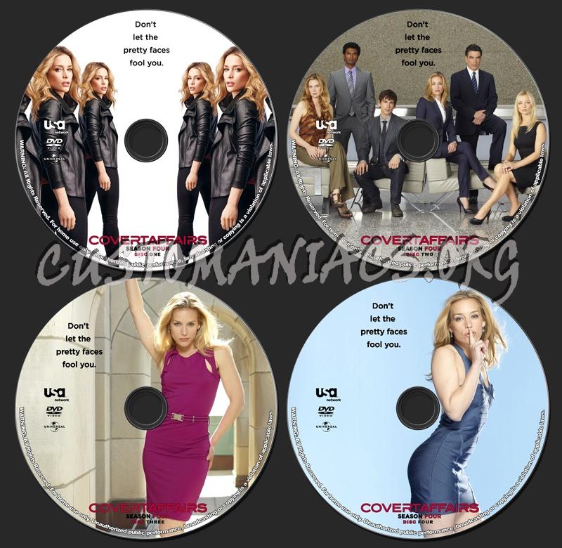 Covert Affairs - Season 4 dvd label