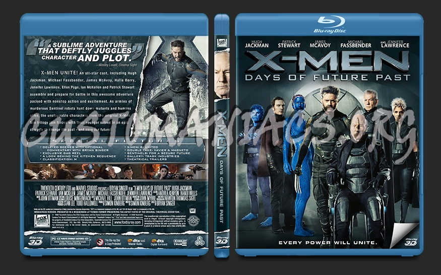 X-Men Days of Future Past blu-ray cover