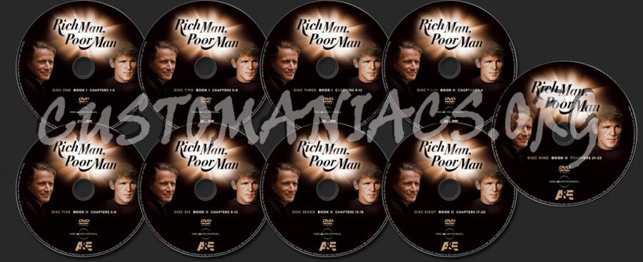 Rich Man, Poor Man dvd label