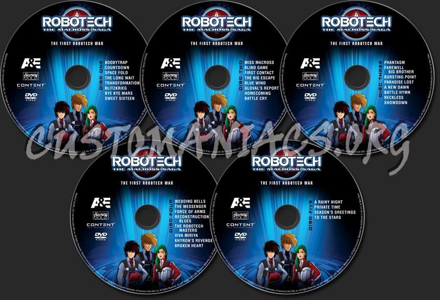 Robotech Season 1 dvd label