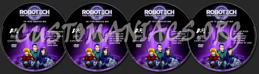 Robotech Season 3 dvd label