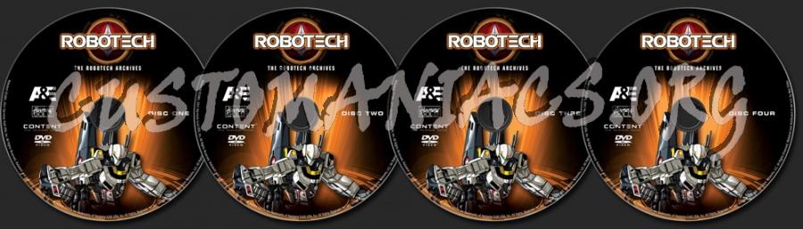 Robotech Season 4 dvd label