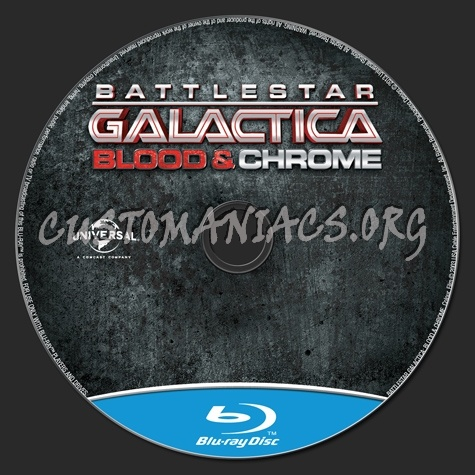 Battlestar Galactica Blood & Chrome blu-ray label