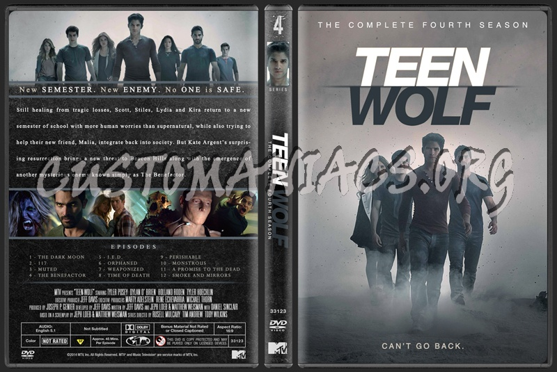 Teen Wolf - The Complete Fourth Season dvd cover - DVD