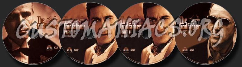 Godfather Trilogy dvd label