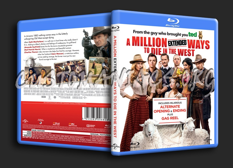 A Million Ways To Die In the West blu-ray cover