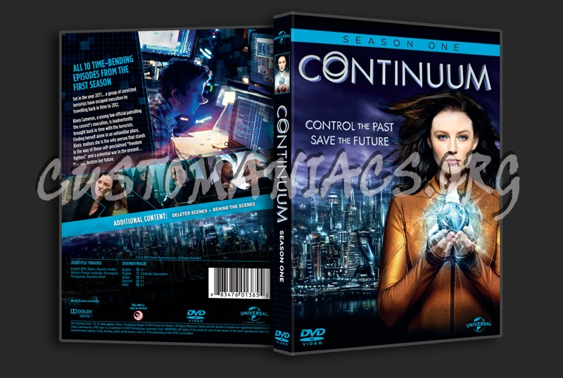 Continuum Season 1 dvd cover