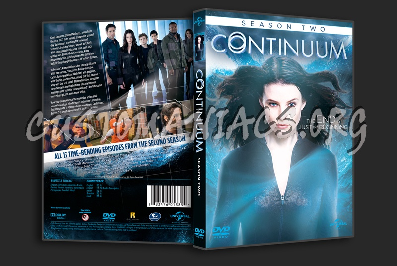 Continuum Season 2 dvd cover