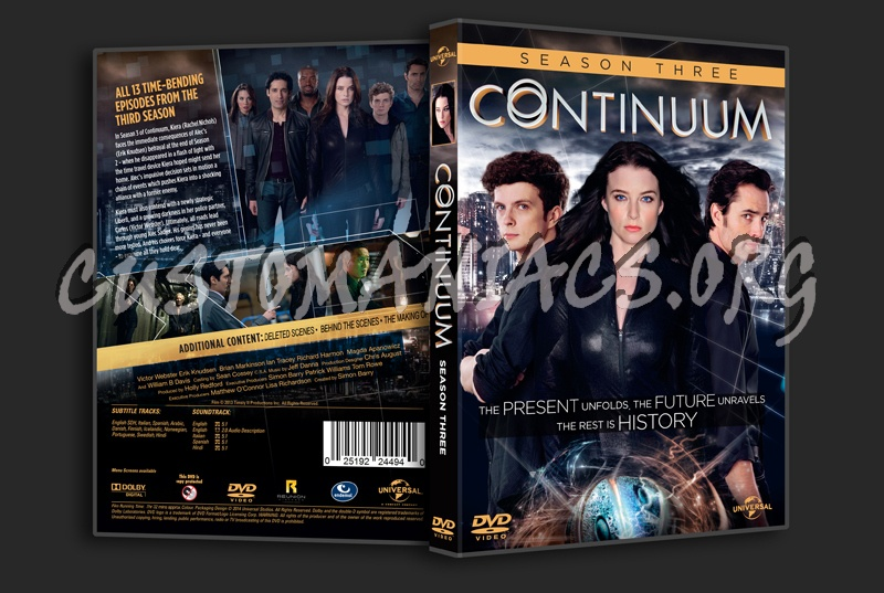 Continuum Season 3 dvd cover