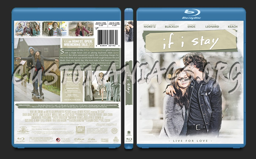 If I Stay blu-ray cover