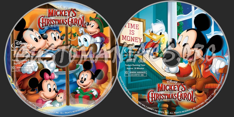 mickeys christmas carol 1983 blu ray label - Mickeys Christmas Carol Blu Ray