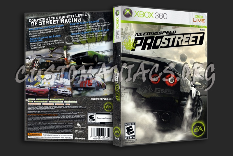 Need For Speed Pro Street dvd cover