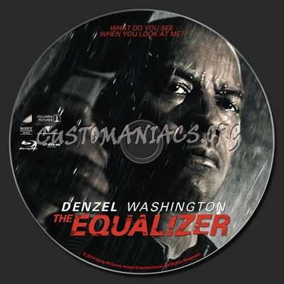 The Equalizer (2014) blu-ray label