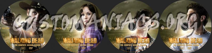 The Walking Dead Season 2 dvd label
