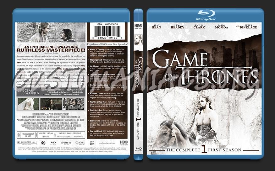 Game of Thrones Season 1 blu-ray cover