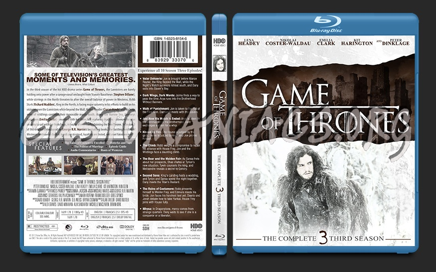 Game Of Thrones Season 3 Blu Ray