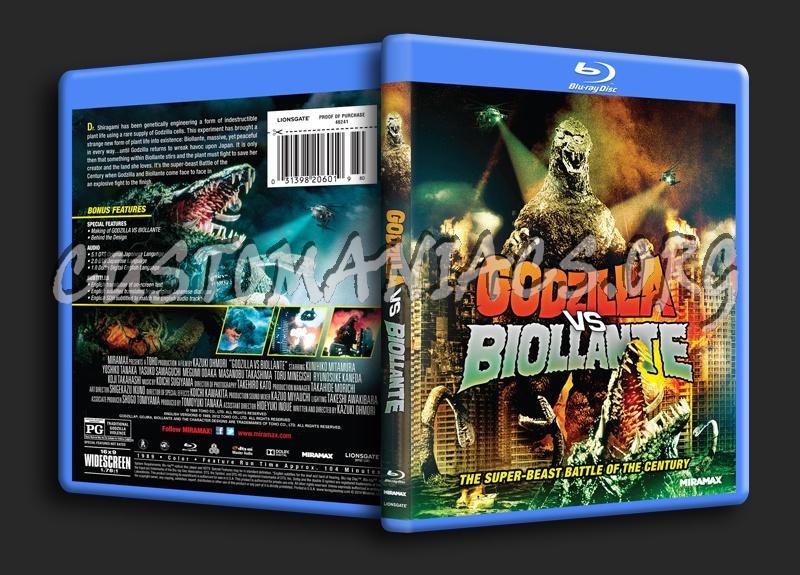 Godzilla VS Biollante blu-ray cover