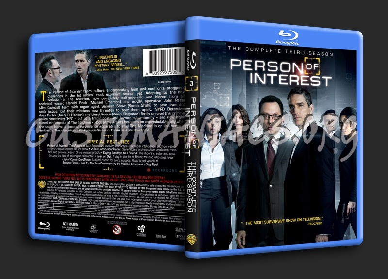 Person of Interest Season 3 blu-ray cover