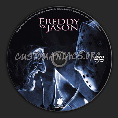 Freddy Vs Jason dvd label