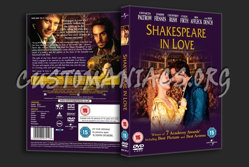 Shakespeare in Love dvd cover