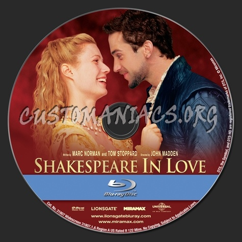 Shakespeare in Love blu-ray label