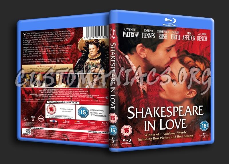 Shakespeare in Love blu-ray cover