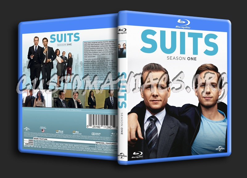 Suits Season 1 blu-ray cover