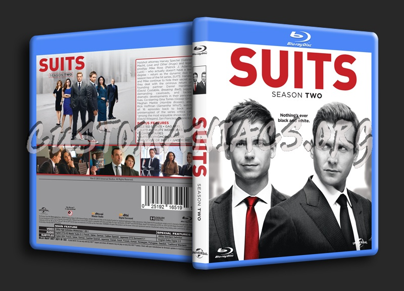 Suits Season 2 blu-ray cover