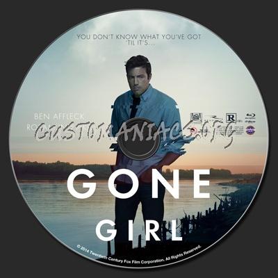 Gone Girl blu-ray label