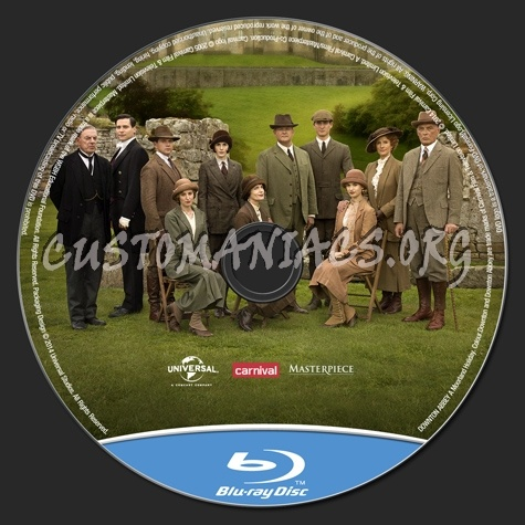 Downton Abbey A Moorland Holiday blu-ray label