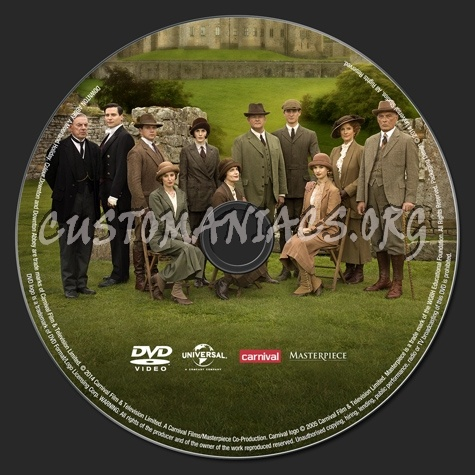 Downton Abbey A Moorland Holiday dvd label