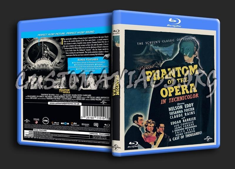 Phantom of the Opera (1943) blu-ray cover