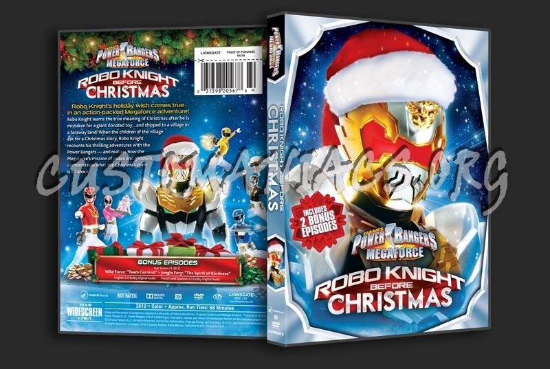 power rangers megaforce robo knight before christmas dvd cover