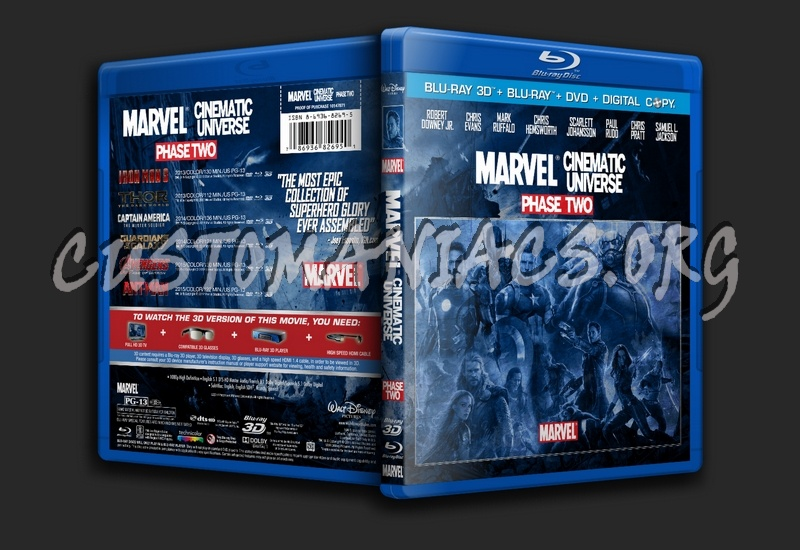 Marvel Cinematic Universe Phase Two blu-ray cover