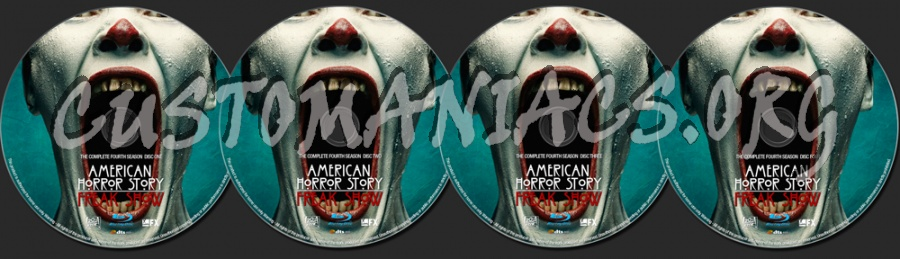 American Horror Story Season 4 blu-ray label