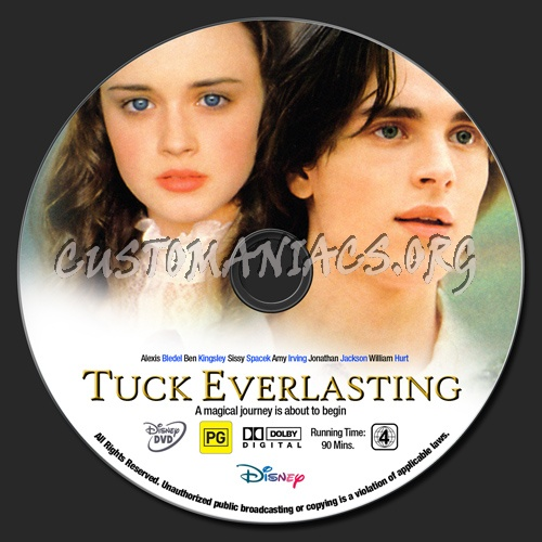 Tuck Everlasting dvd label
