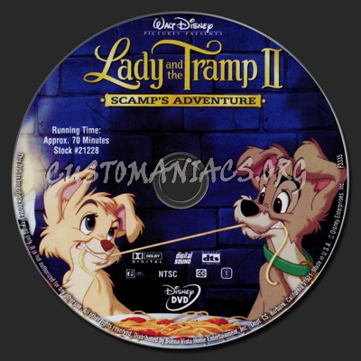 Lady and the Tramp 2 Scamp's Adventure dvd label