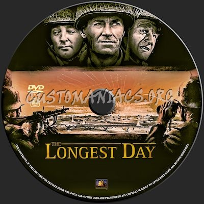 The Longest Day dvd label