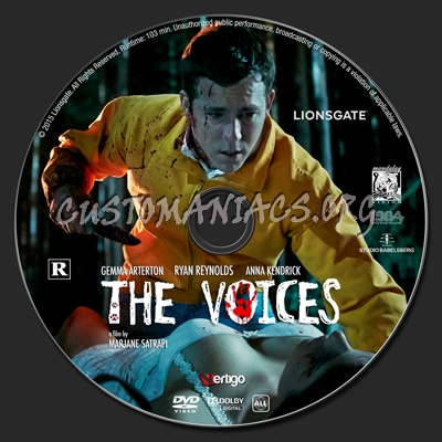 The Voices dvd label