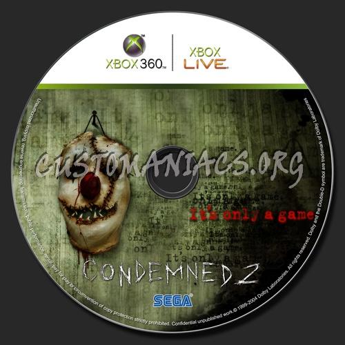Condemned 2 Bloodshot dvd label