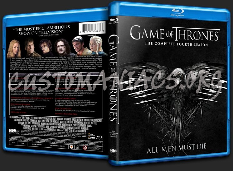 Game of Thrones Season 4 blu-ray cover