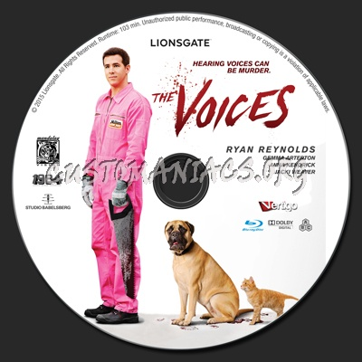 The Voices blu-ray label