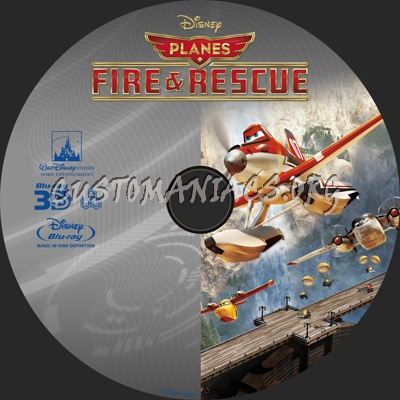 Planes Fire and Rescue blu-ray label